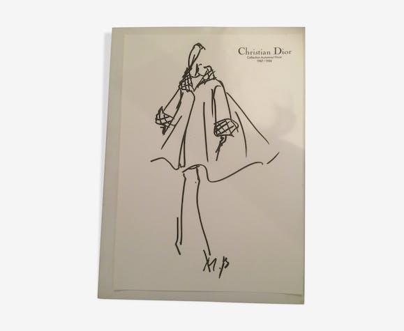 Illustration de mode de presse Christian Dior 1987-1988