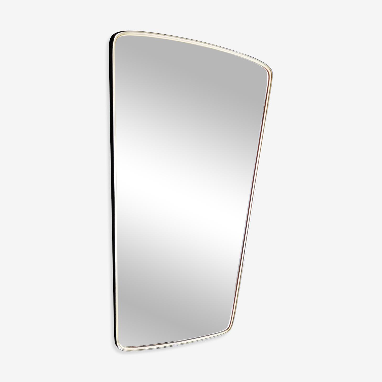 Grand miroir asymétrique forme libre, 80x43cm