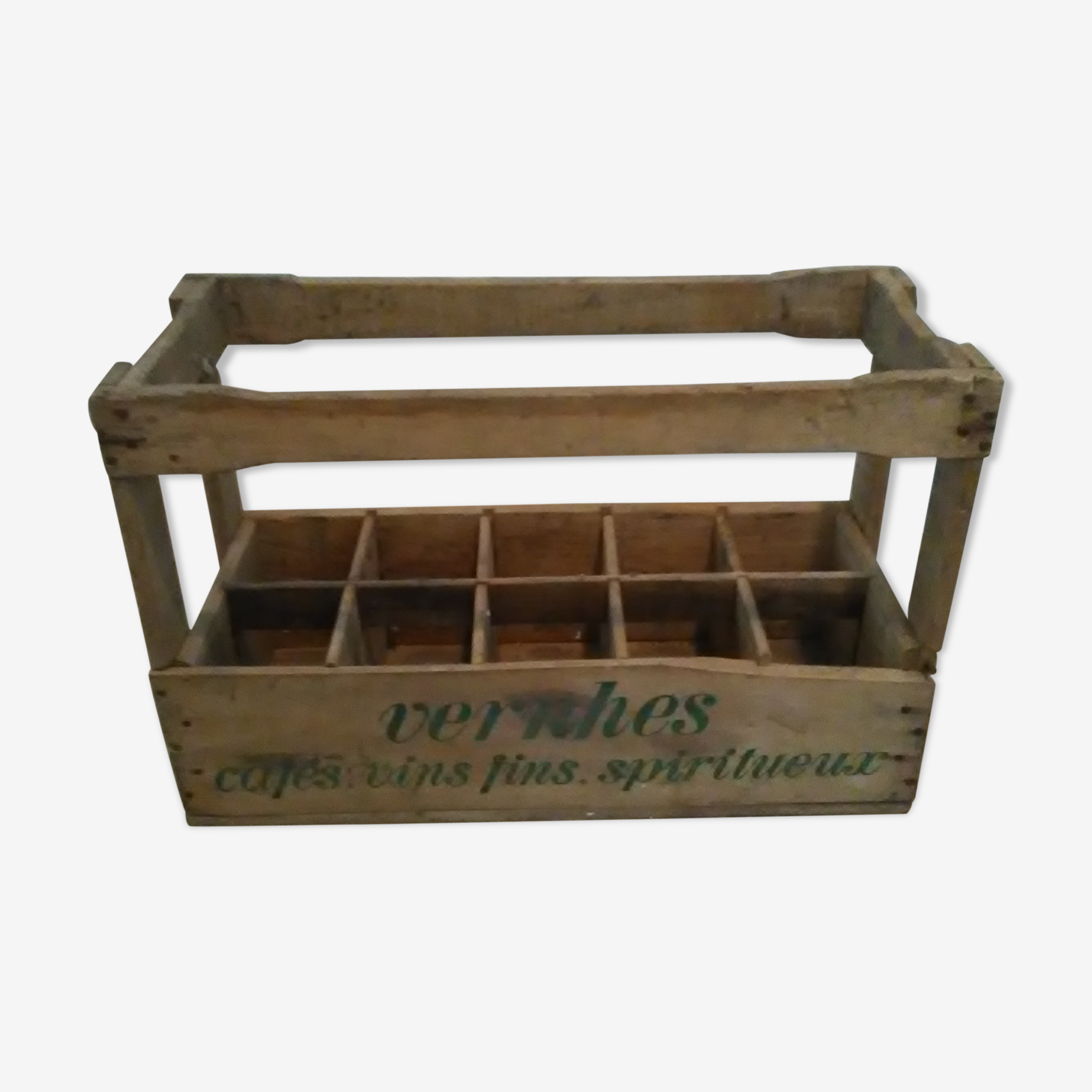Bottles in wooden box