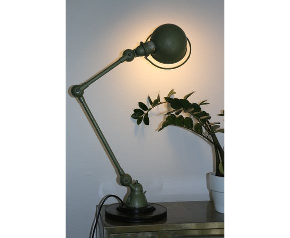 Jielde lamp 2 arms green hammered hammered