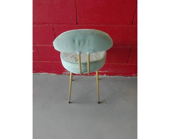 Chaise pelfran velours bleu