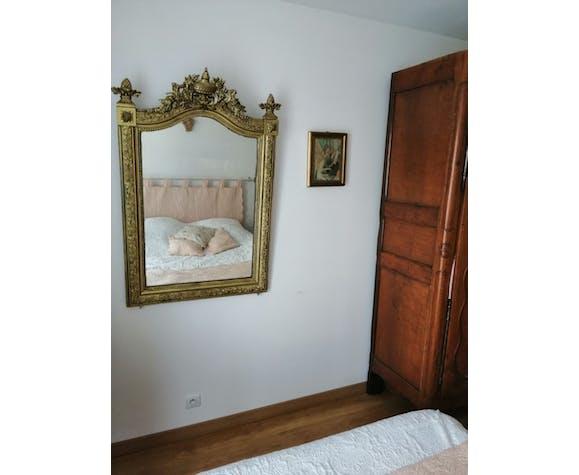 Miroir mural  doré à ornements baroques - 120x80cm