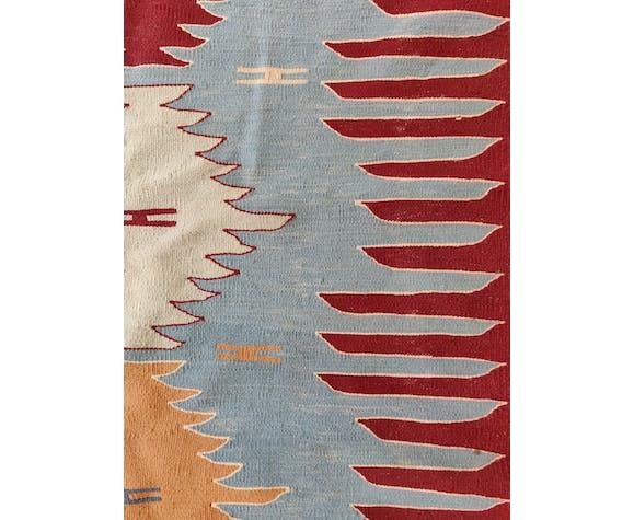Tapis de couloir kilim turquie laine fait main 260x82cm