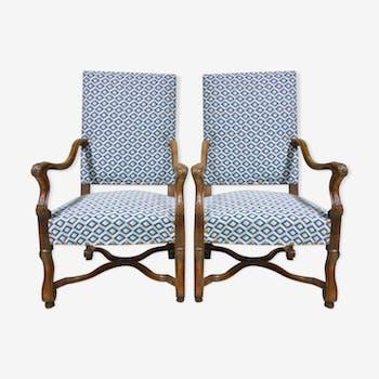 Paire de fauteuils Louis XIV