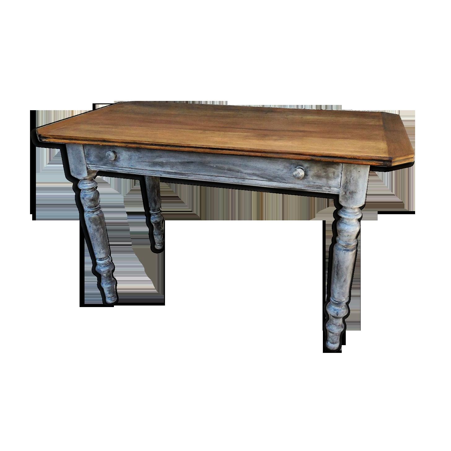 Table bureau en bois et patine shabby chic bois matériau