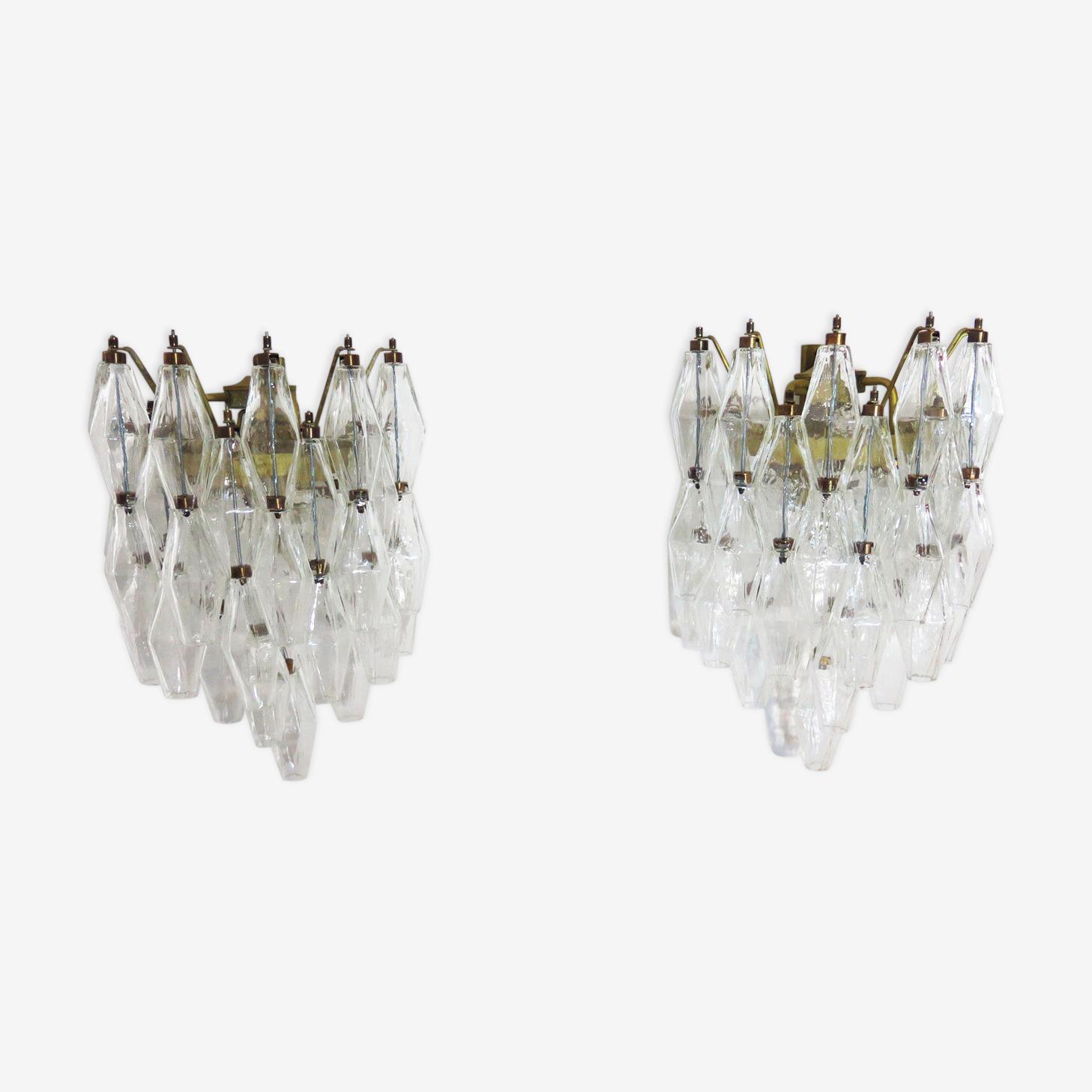 Paire d'appliques Carlo Scarpa en verre de Murano, Italie années 60