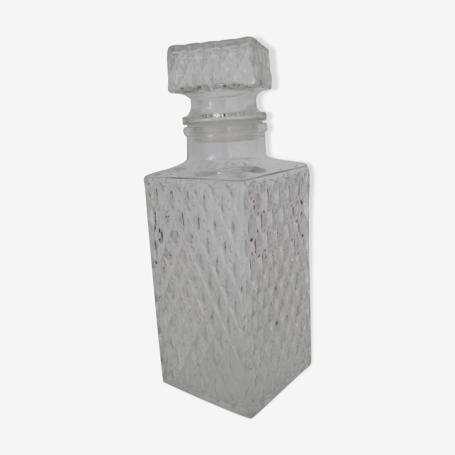 Carafe à whisky verre blanc  vintage