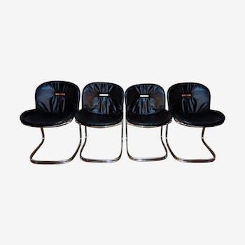 Set of 4 chairs model Sabrina of Gastone Rinaldi