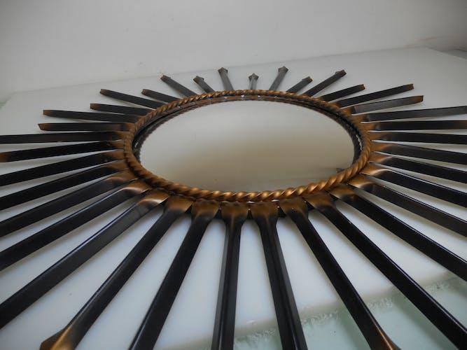 Miroir de sorcière Chaty Vallauris signé