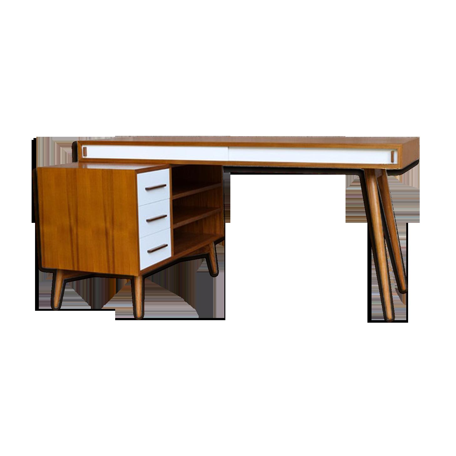 Bureau design scandinave tiroirs en teck massif sydney