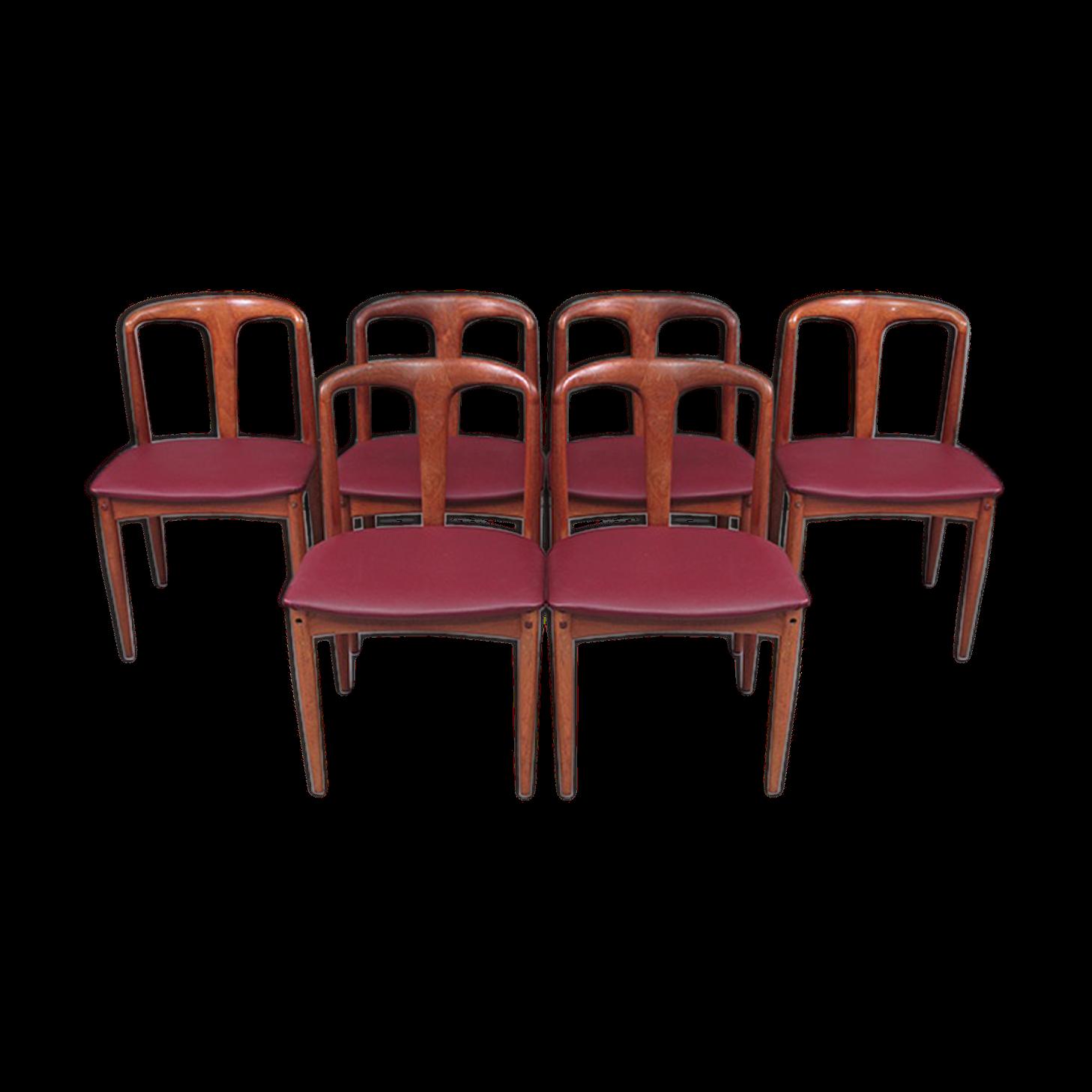 Lot de 6 chaises Juliane de Johannes Andersen
