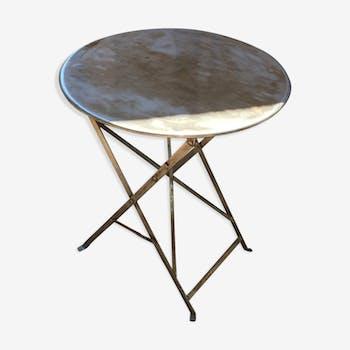 Table en métal vintage