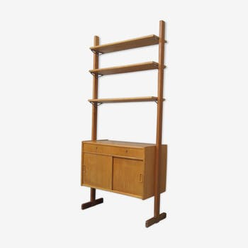 Scandinavian modern oak bookcase, 1960s