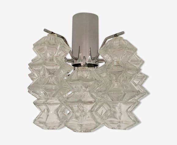 Mid century pagoda ceiling lamp by J.T. Kalmar for Franken KG