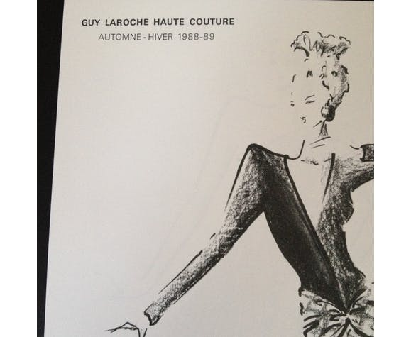 Guy LAROCHE: Superb draw drawing/sketch MODE press end of the 80s