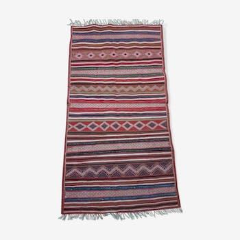 Multicoloured carpet in wool 110x210cm