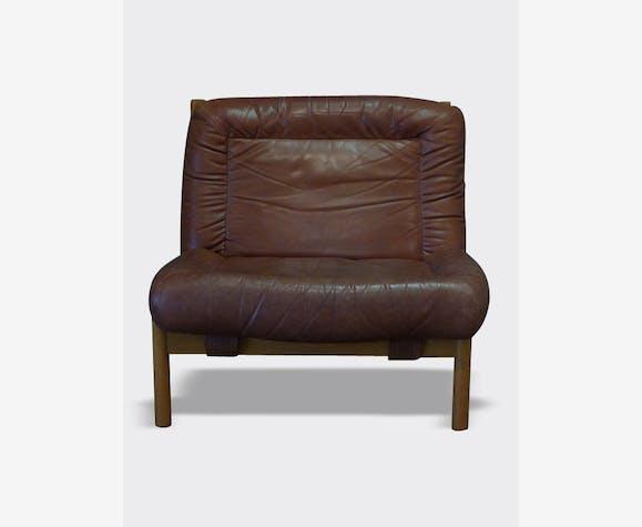 Authentique Fauteuil Ou Chauffeuse Design Scandinave Tout Cuir - Fauteuil cuir design scandinave
