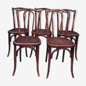Lot de 5 chaises Japy frères