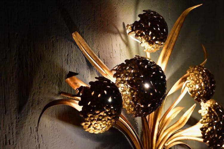 Applique Hydrangea de Palladio des années 1960 fabriquée en Italie