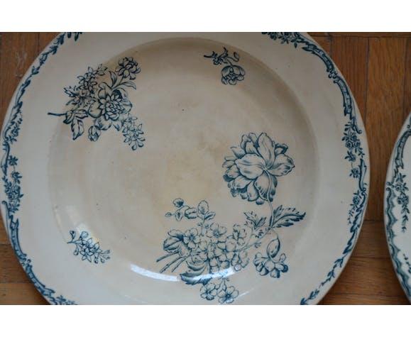 Lot 6 assiettes cresues anciennes Saxe