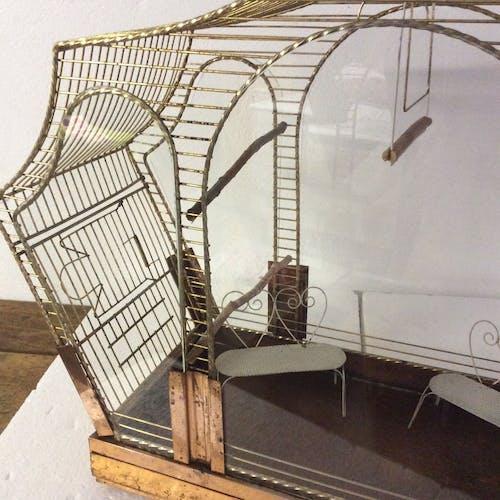 Volière cage à oiseaux vintage