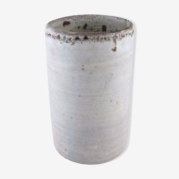 Vase rouleau blanc nuancé 1960