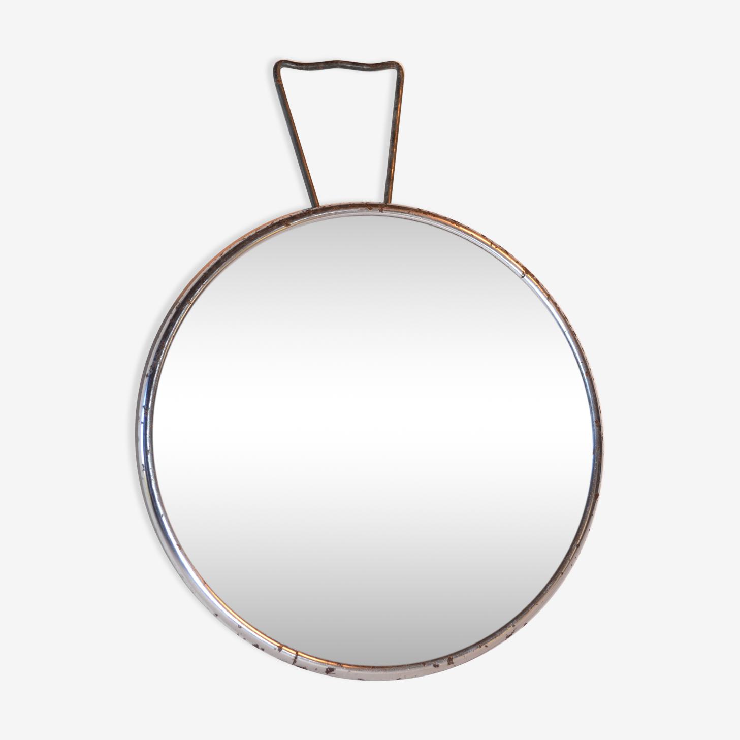 Mirror Barber round vintage 17cm