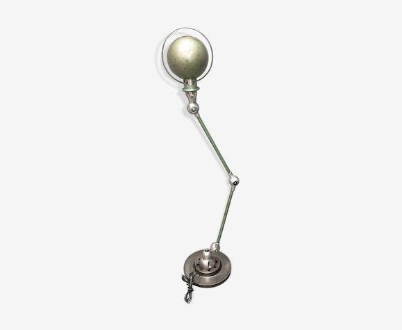 Ancienne lampe jielde industriel deux bras patine verte d'origine