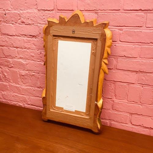 Miroir doré fleuri vintage