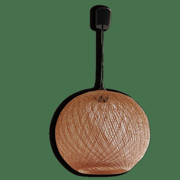 grande boule suspension paille ficelle tress e vintage rotin et osier bois couleur. Black Bedroom Furniture Sets. Home Design Ideas