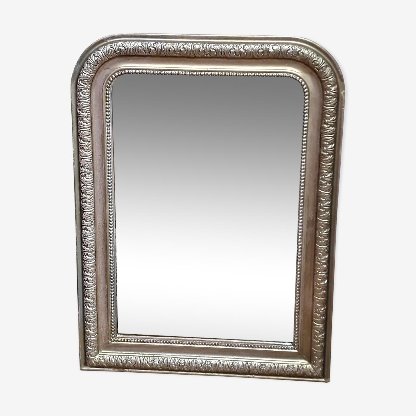 Ancien miroir Louis-Philippe en bois 83x62cm