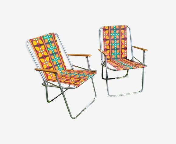 Duo de chaises pliante vintage