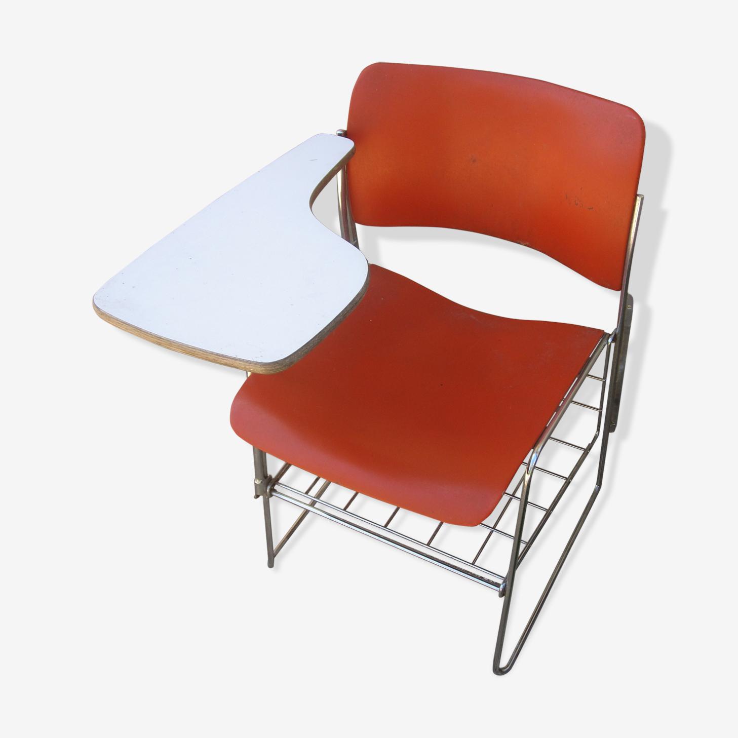 David Rowland desk orange chair