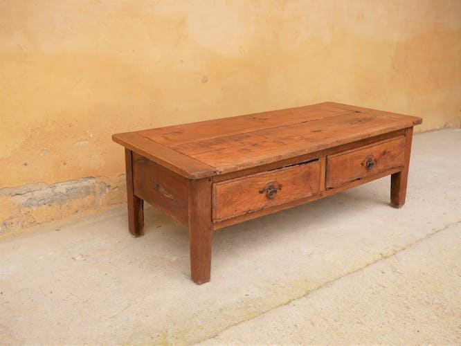 Table basse de ferme vintage