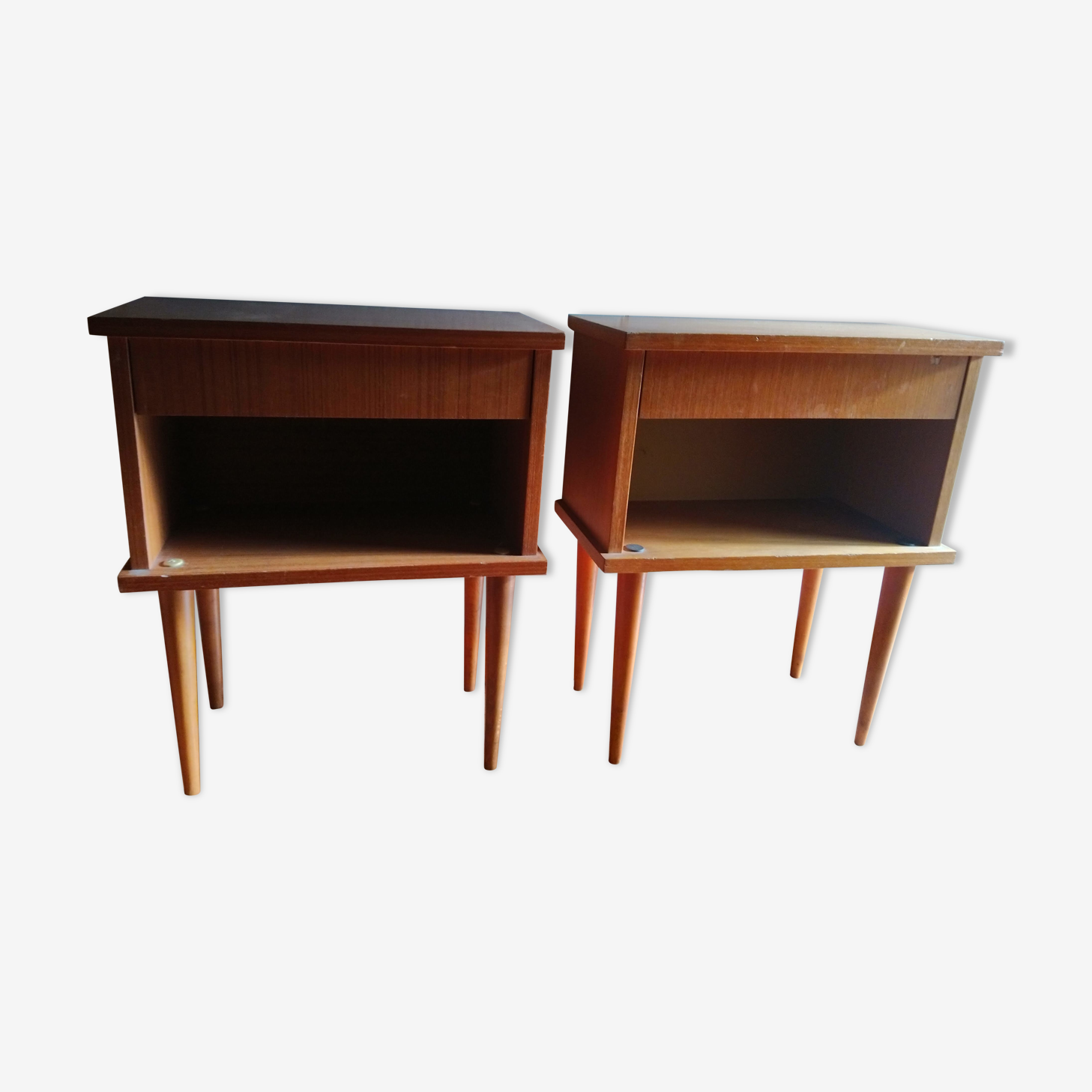 Scandinavian vintage nightstand pair
