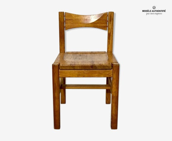 "Chaise en pin modèle ""Hongisto"" par Ilmari Tapiovaara pour Laukaan Puu, Finlande"