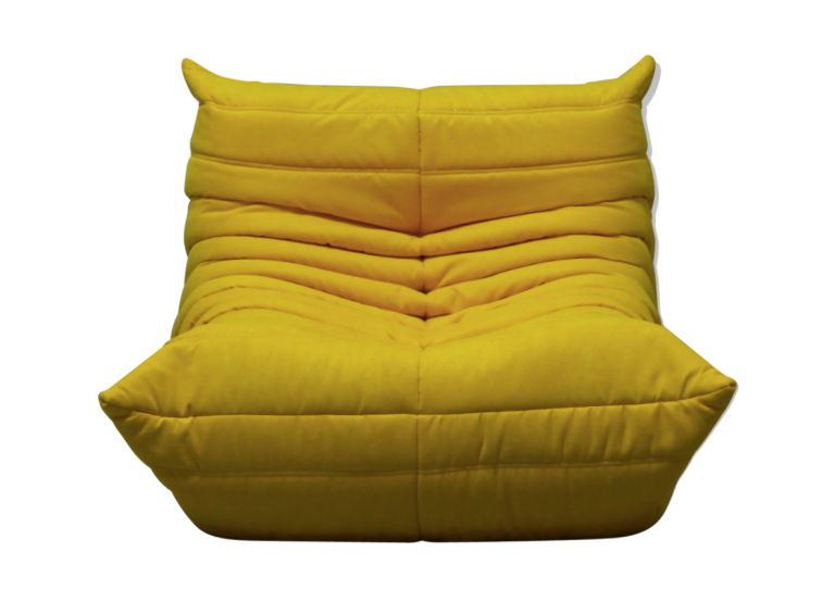 "Duo of chair ""Togo"" microfiber by Michel Ducaroy for Ligne Roset"