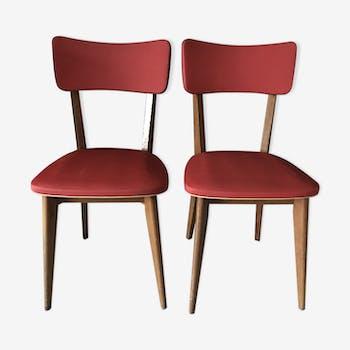 Paire de chaises design vintage