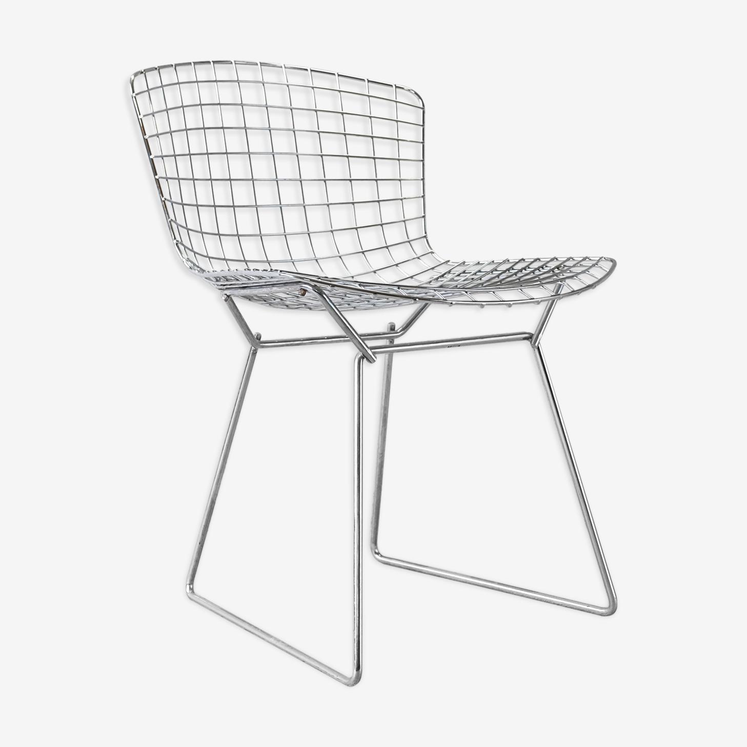 "Chair Harry Bertoia ""Side chair"" edition Knoll 1970"