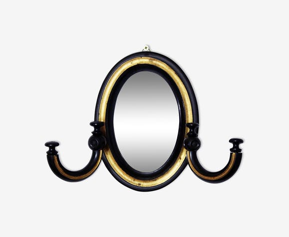 Miroir Napoléon III avec crochets porte bijoux 16x22cm - bois ...