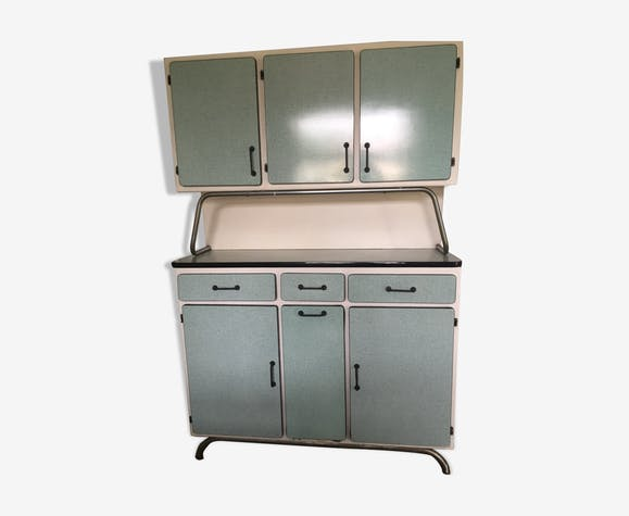 Vintage buffet in pale green formica