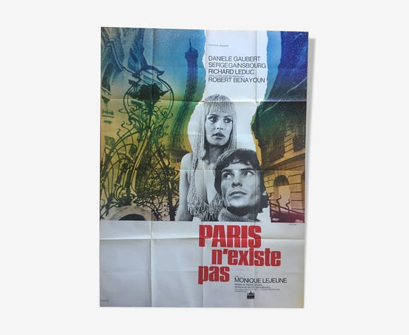 "Poster ""Paris does not exist"" Serge Gainsbourg 120x160cm 1969"