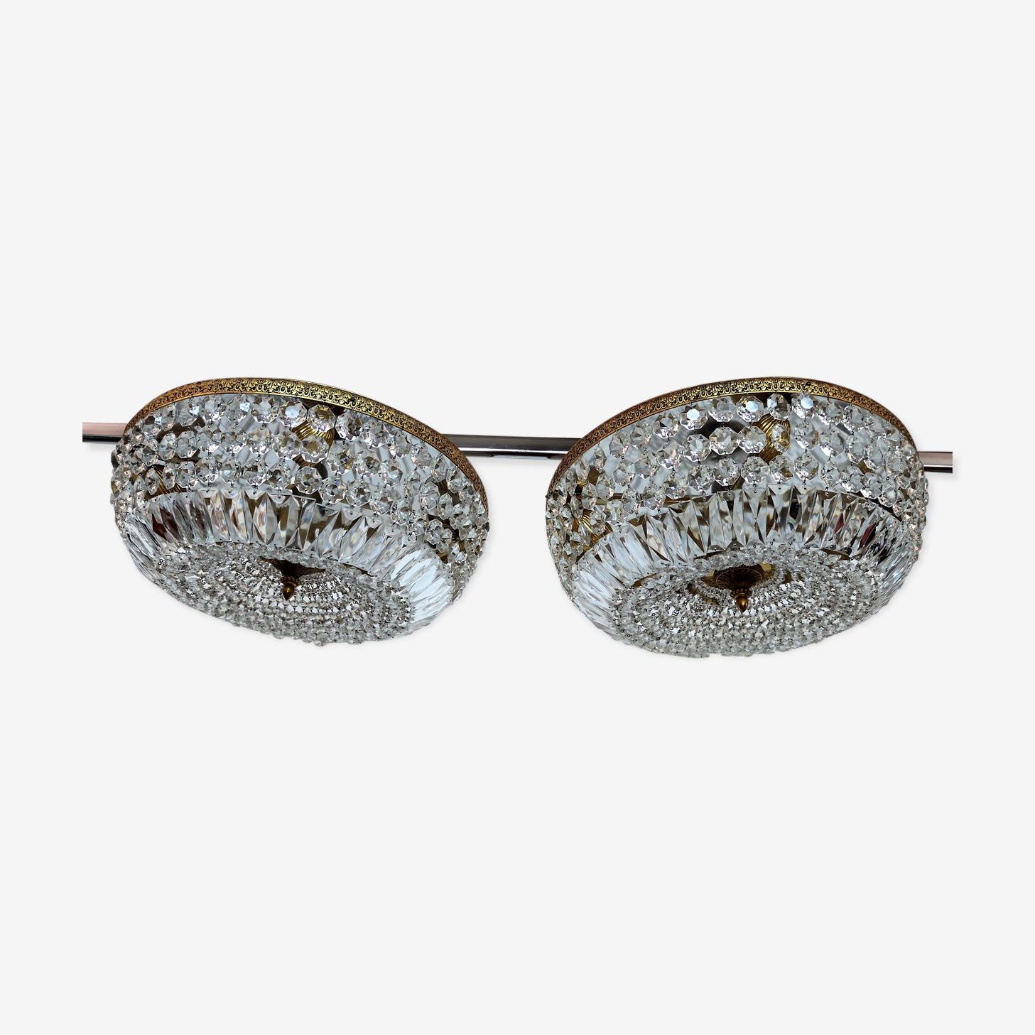 Lustres en verre de Murano cristal, des années 1950