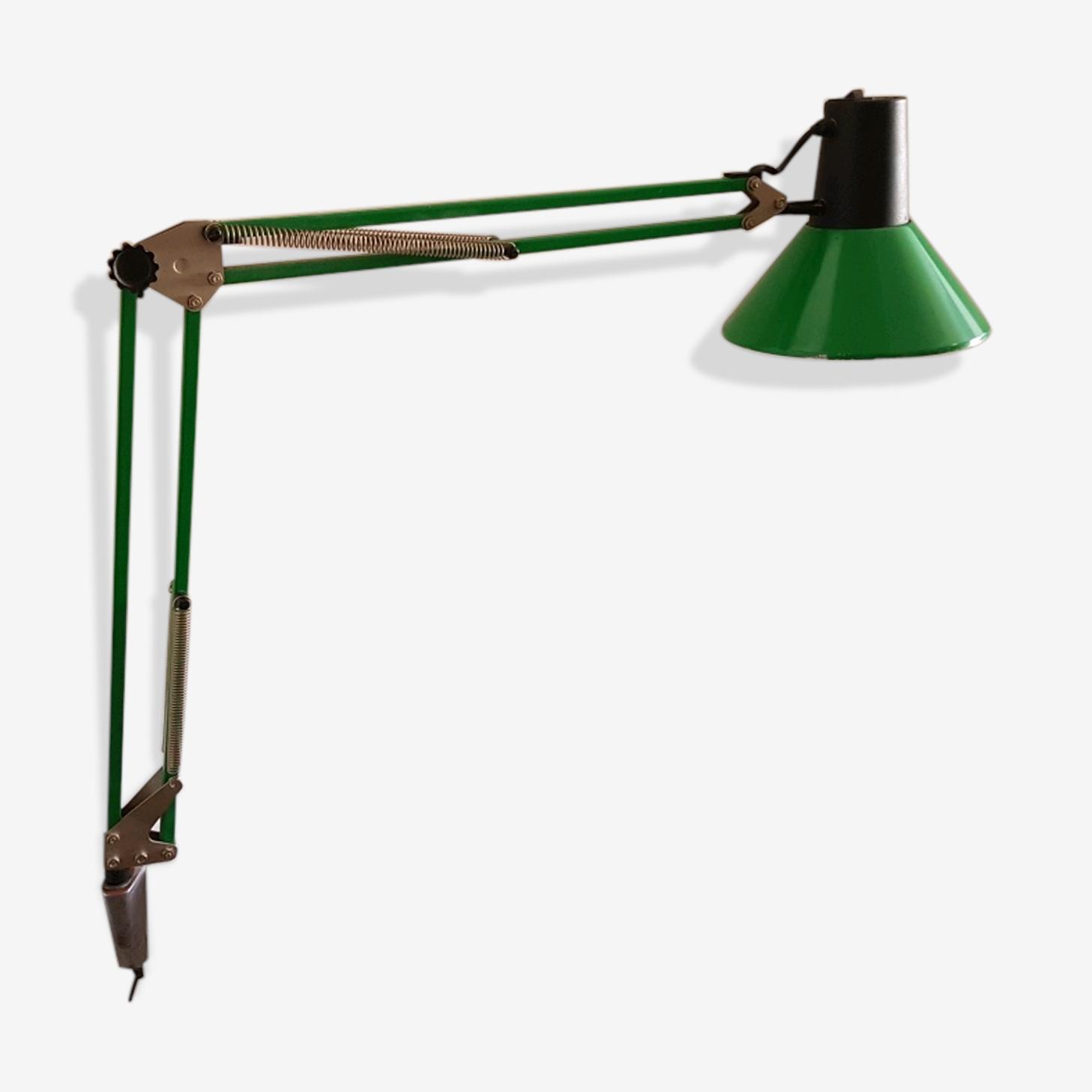 Lampe articulée d'architecte ou de bureau vert pomme 70