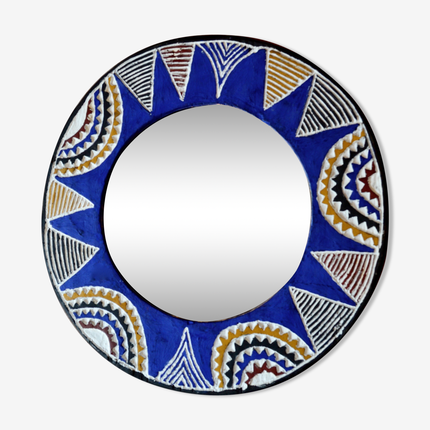 Miroir lunaire de cote d'ivoire vintage