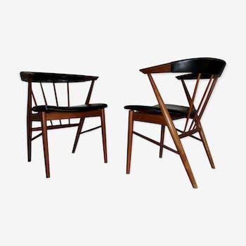 Paire de fauteuils Arne Vodder