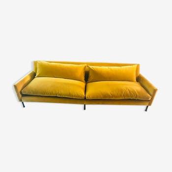 Caravan sofa 220cm cumin velvet