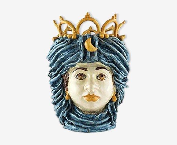 Vase couronne bleu ciel femme