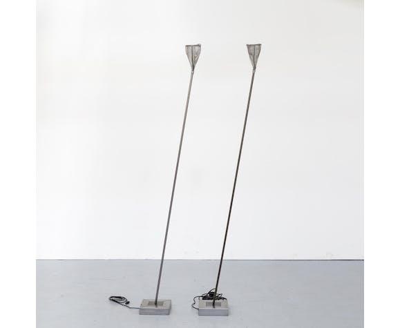 Lampadaires en métal début des années 90