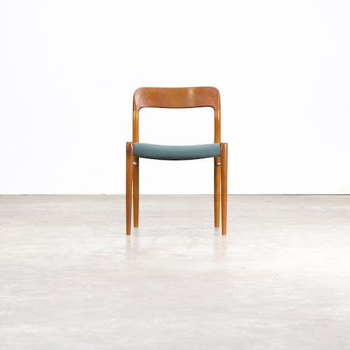 Set of 6 model 75 dining chairs by Niels O. Møller for J.L. Møller, 60's